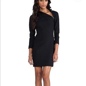 Theory black wool Danella mock neck dress NWT NEW